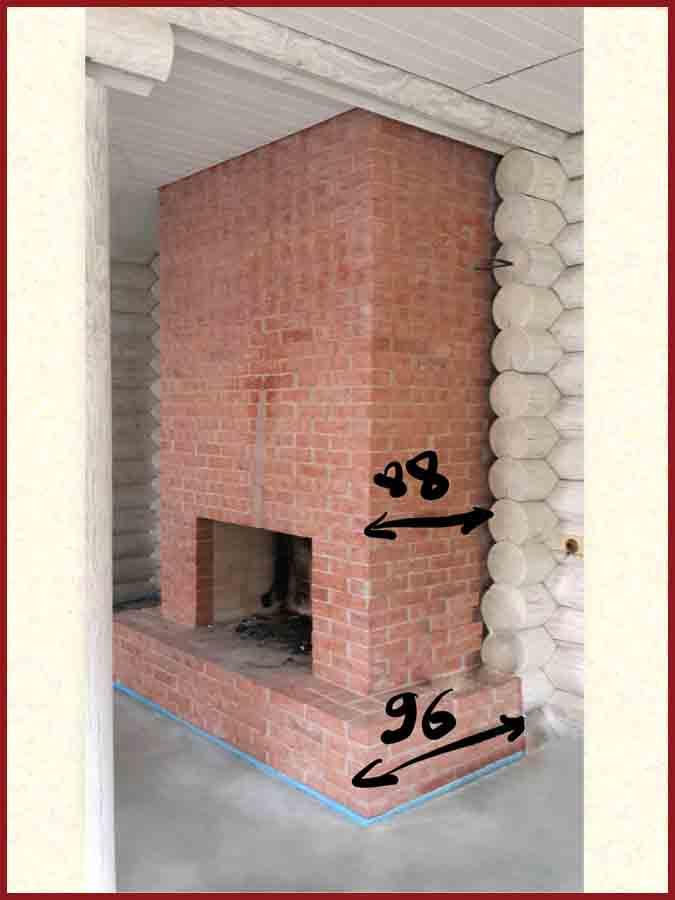 Пример расчета необходимого количества плитки и декоративных элементов для камина
